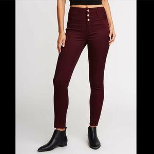 NWOT Charlotte Russe Refuge Hi Waist Skinny Jeans
